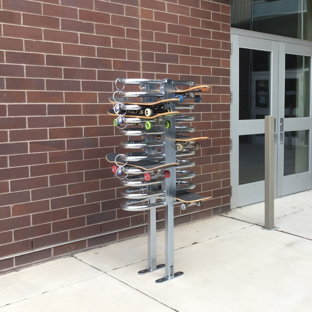 skateboard security rack