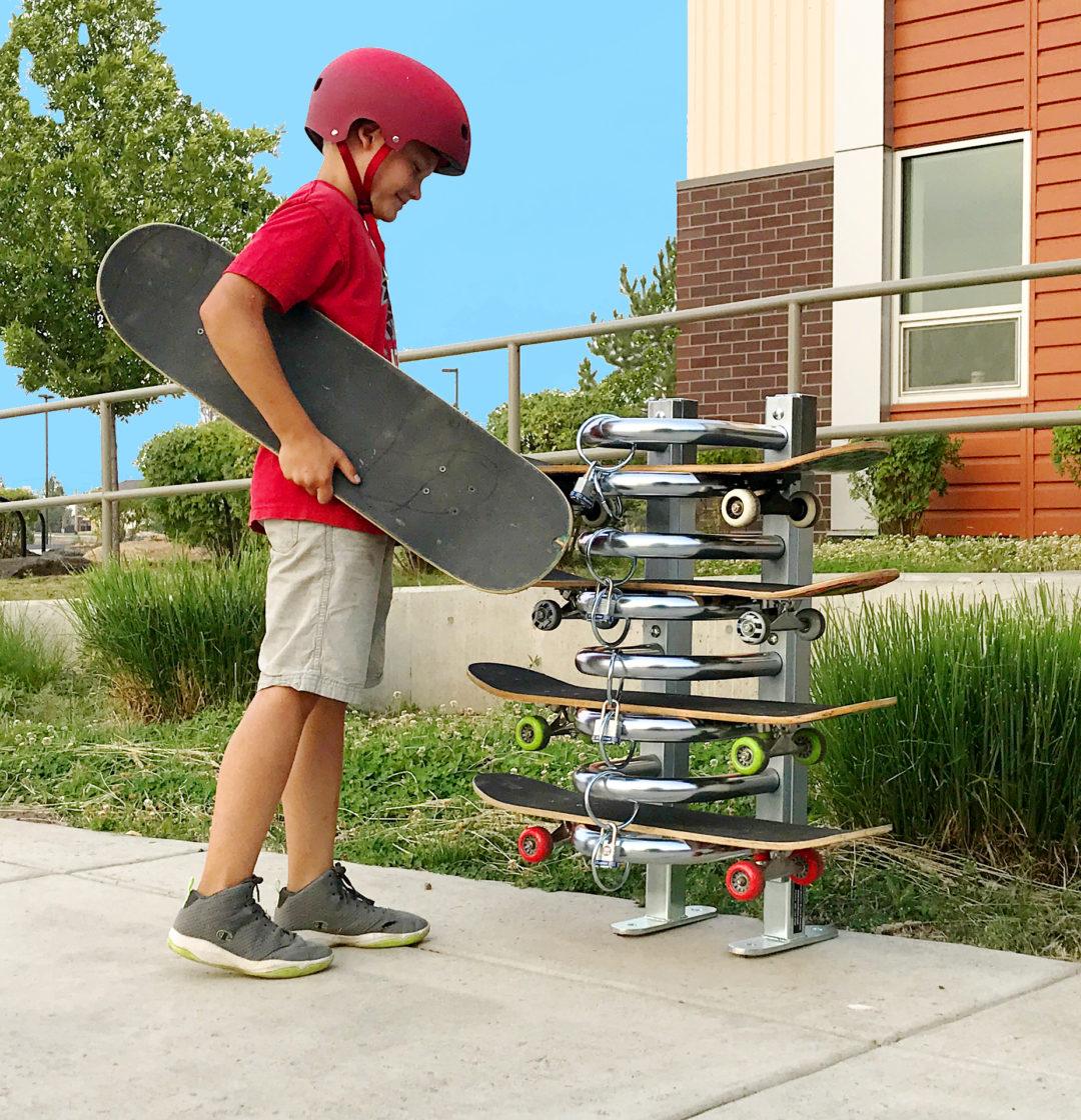 spartan skateboard rack