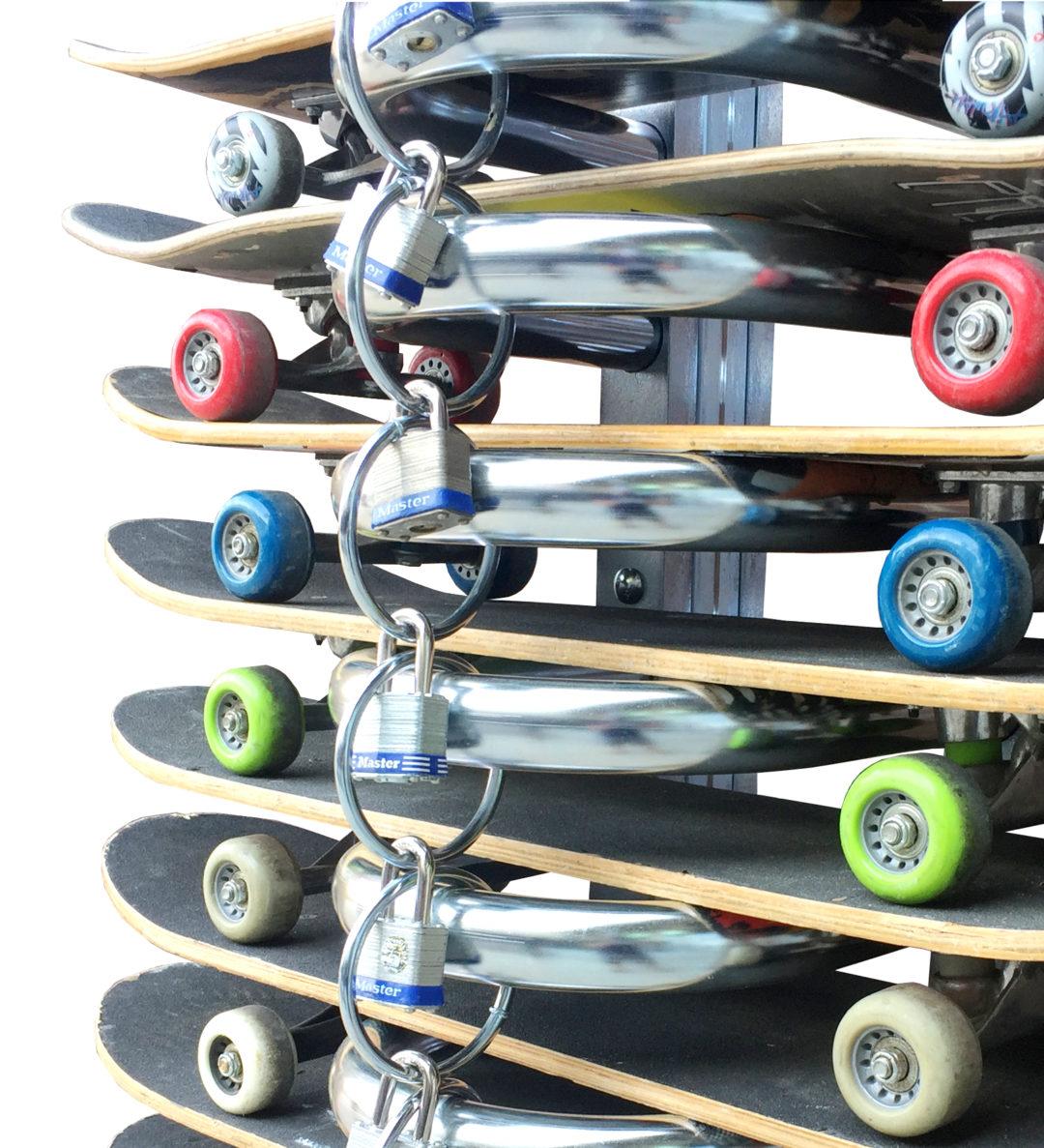 skateboard rack with locks - Spartan