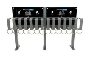 skateboard and scooter security rack - Brute 12 single sided