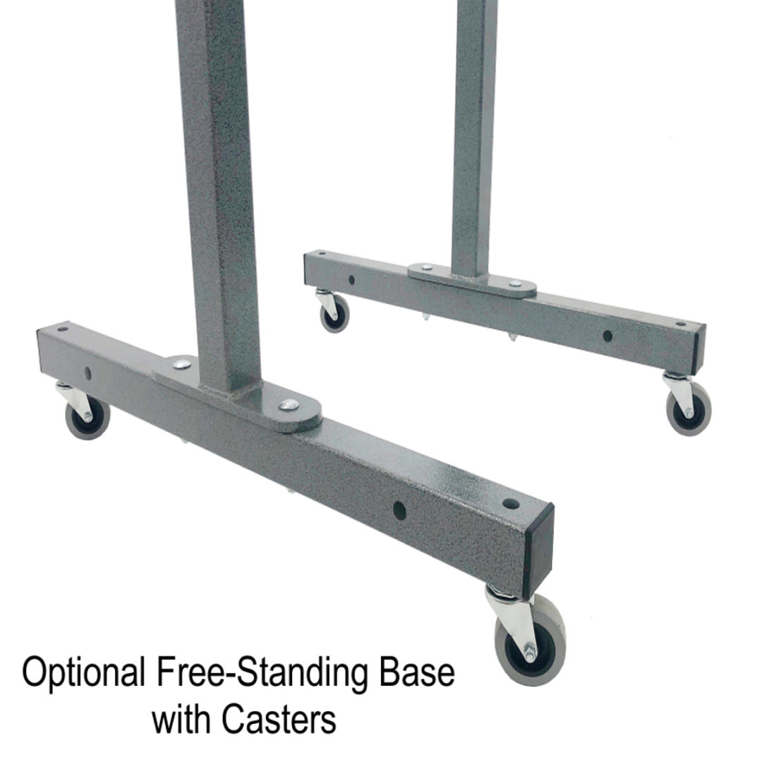 casters with base for skateboard and scooter racks